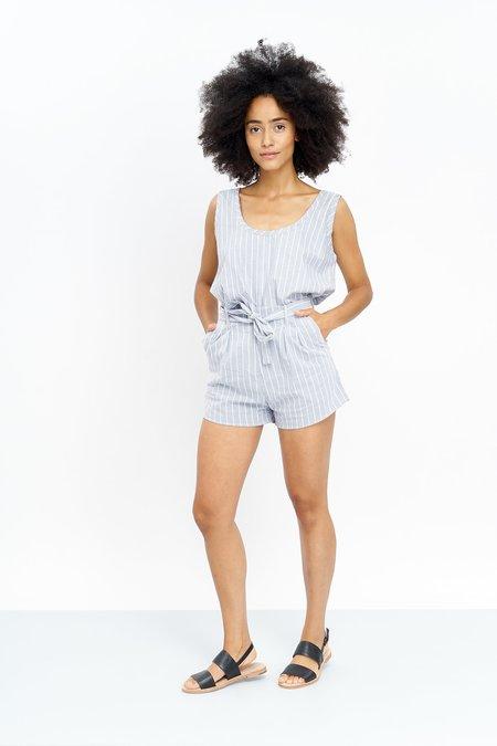 Jungle Folk mara shorts - striped grey/white