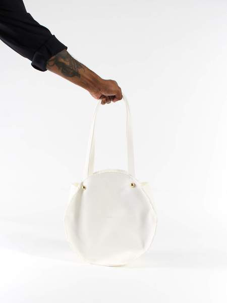 Marché Marché Mini Circle Bag - White