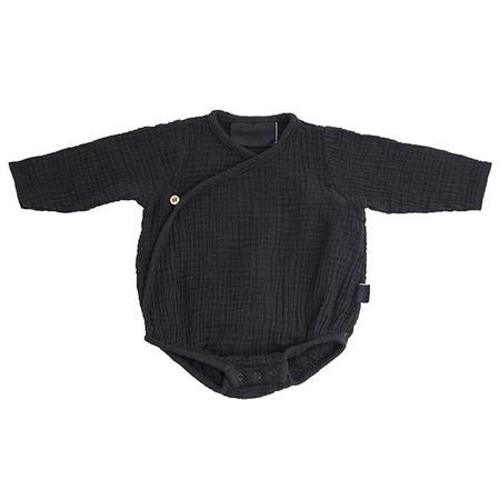 KIDS Moumout Paris Flora Muslin Bodysuit - Ink Black