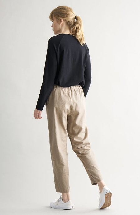 CUS Luisella Crepe trousers - earth