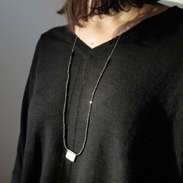 christy lea payne pyrite necklace