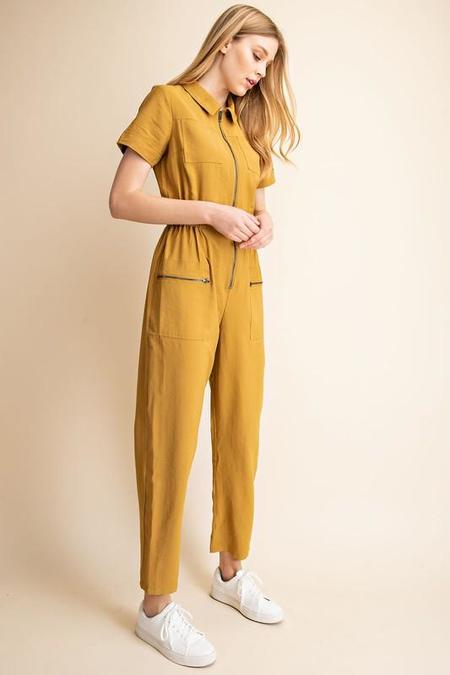 Gilli Utility Jumpsuit - mustard