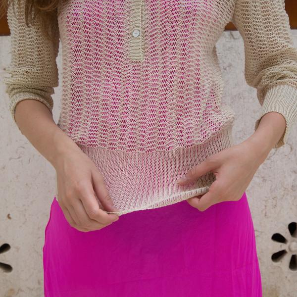 cotton mesh henley