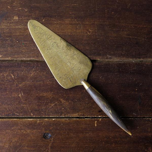 engraved serving utensil