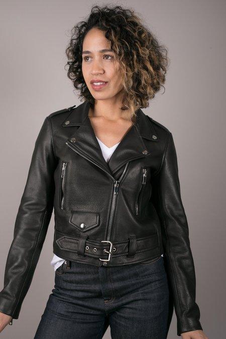 Lær Brand New Standard Moto Jacket - Black
