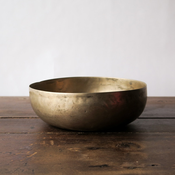 hand-formed brass bowl