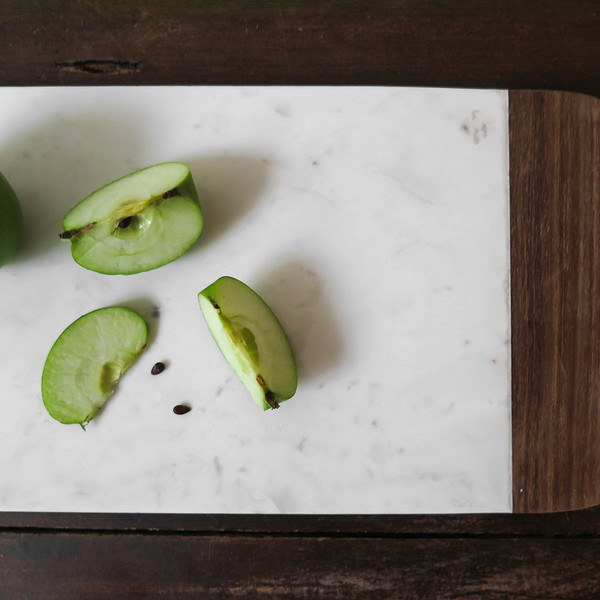 Roost marble + wood cheese board