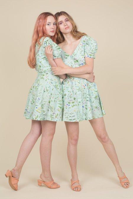 Samantha Pleet Flora Dress - Floral Print