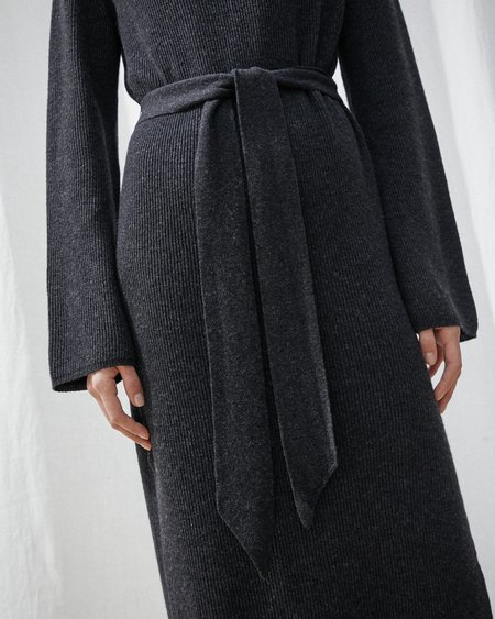 Nanushka Canaan Knit Turtleneck Dress - Charcoal
