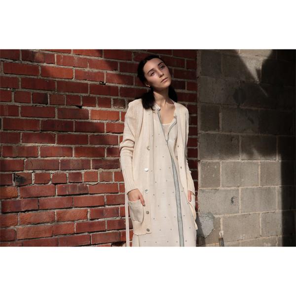 Erica Tanov - Pima Cotton Belted Cardigan