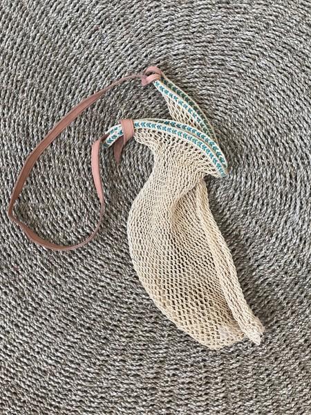 MEX Handmade Rope bag - natural/turq