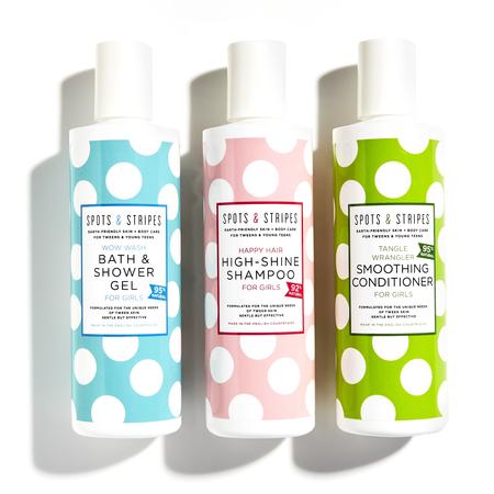 Kids Spots & Stripes Girls Tween and Teen Clean Bath Set