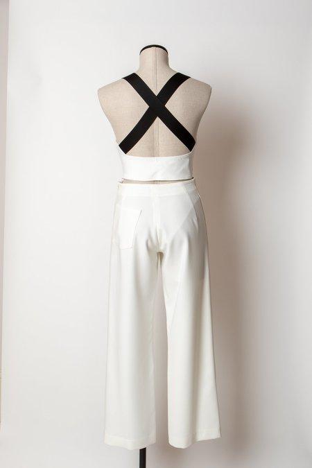 Rachel Comey Dive Top - White/Black Straps
