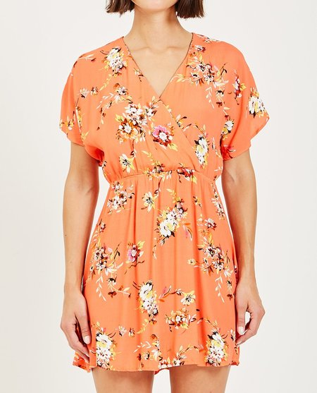 Obey PINOT DRESS - CORAL