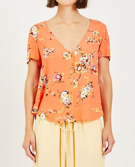 Obey PINOT SHIRT - Coral