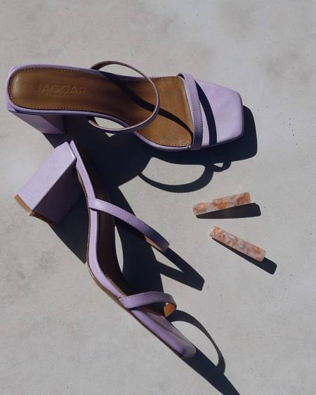 Jaggar The Label Square Toe Heel - lilac