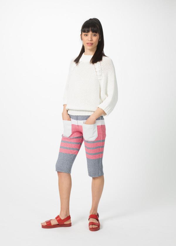 Sayaka Davis Lace-Up Raglan Sweater