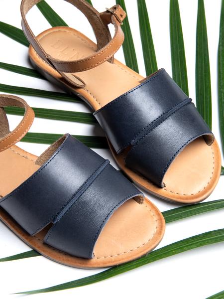 BLNC Ankle Strap Sandal CB - Navy/Tan