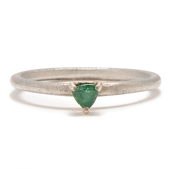 Tarin Thomas Tyler Silver and Emerald Ring