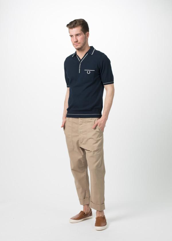 Men's Wooster + Lardini Cropped Cuff Trouser