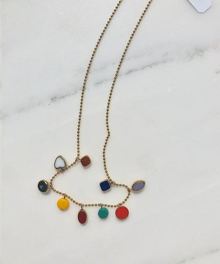 I. Ronni Kappos Mini Charms on Ball Chain Necklace - multi