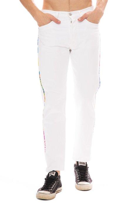 ATELIER & REPAIRS Hawaiian Side Stripe Jean - White