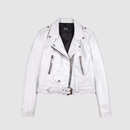 Lær Brand New Standard Jacket - White