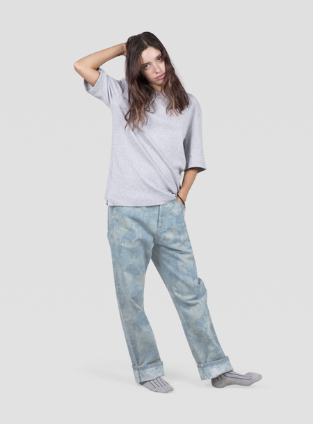 I AND ME Plant Dyed Selvedge Slim Leg Jeans - Rusted Blue