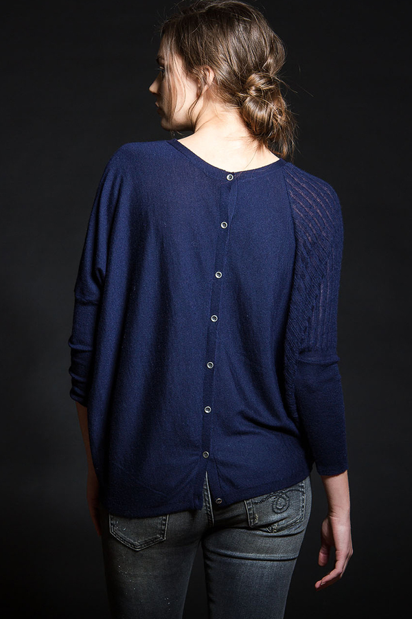 Paychi Guh Polygon Cardigan Navy