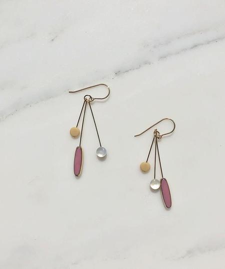 I. Ronni Kappos Blush Cluster Earrings