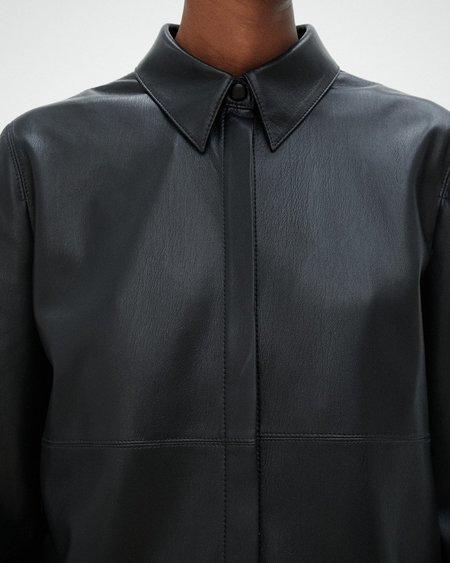 Nanushka Naum Vegan Leather Shirt - Black