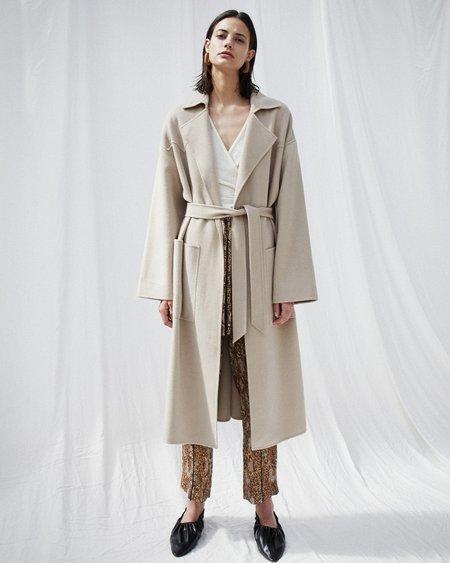 Nanushka ALAMO Robe coat - Stone