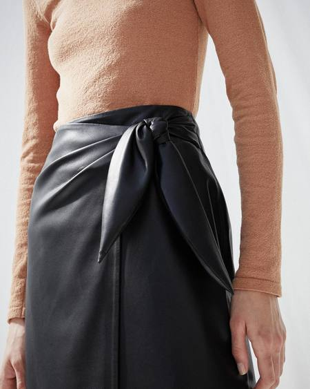 Nanushka AMAS Sarong skirt - Black