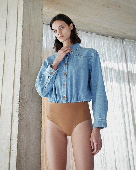 Nanushka KIANA Denim bodysuit - 80s wash