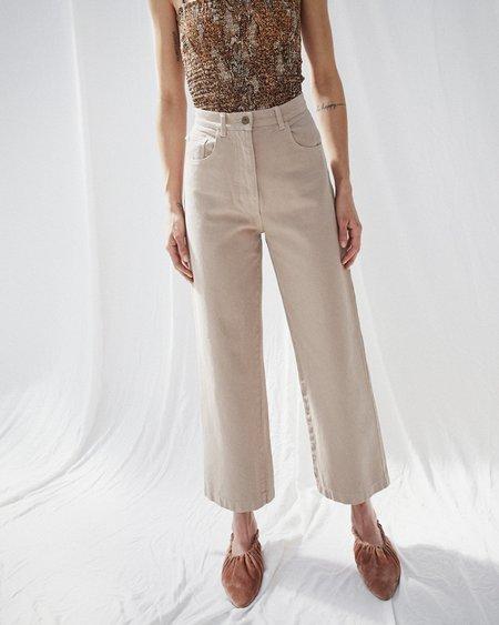Nanushka MARFA High rise wide leg jeans - Taupe