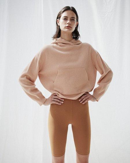 Nanushka MOG Knit hoodie - Apricot