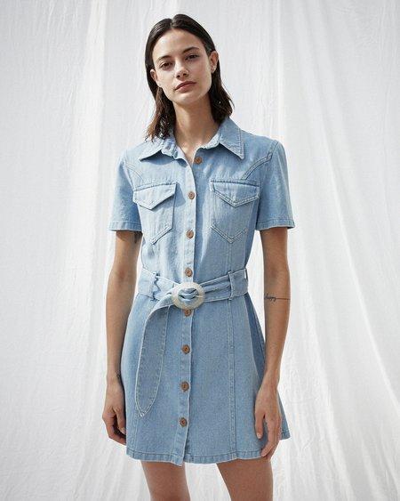 Nanushka MORA Short sleeve mini dress - 80s wash