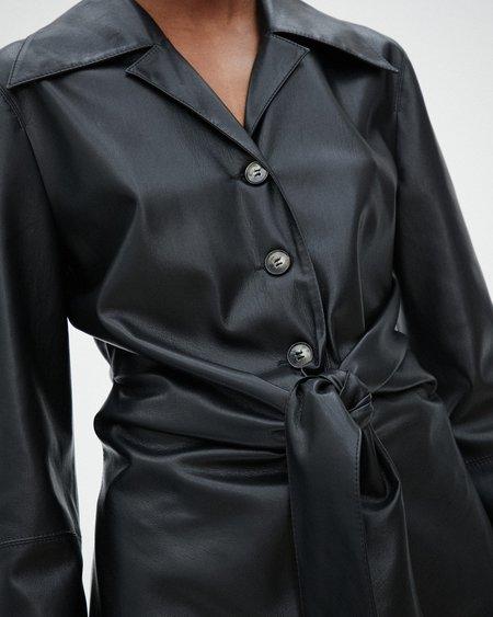 Nanushka POPPY Tie front shirt - Black