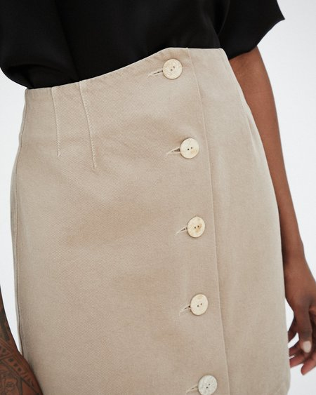 Nanushka SILS Button front mini skirt - Taupe
