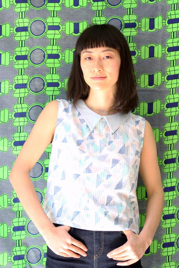 Eve Gravel Barbotine Top (Pastel)