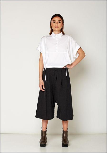 Lurdes Bergada Culotte Style Wide Leg Pants - stone