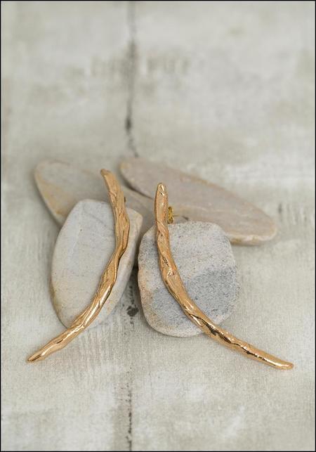 Miriam Nori Twisted Stick Earrings - Bronze