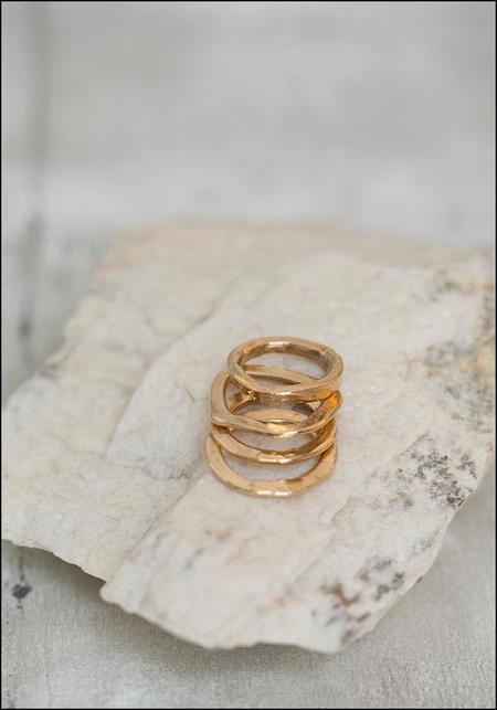 Miriam Nori Set of 4 Stacking Band Rings - bronze