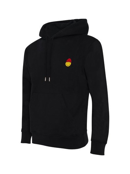 AMI Smiley Patch Hoodie - Black