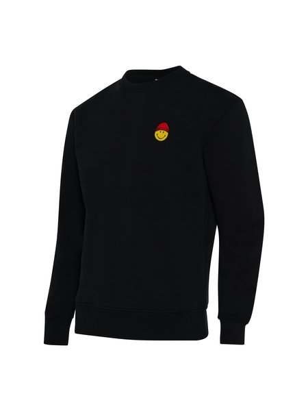 AMI Smiley Patch Sweatshirt - Black