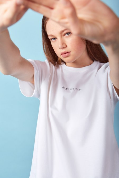 Kowtow Special Edition Single-Use Planet Tee - white