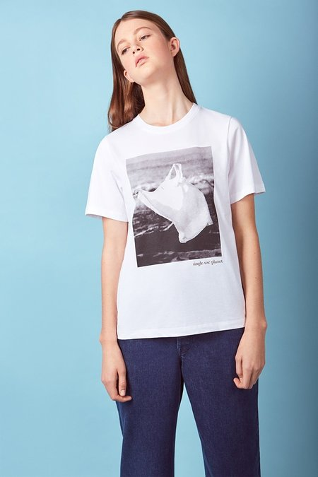 Kowtow Single-Use Bag Tee - White