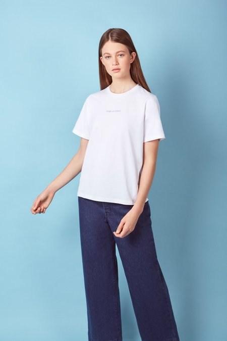 Kowtow Single-Use Planet Tee - White