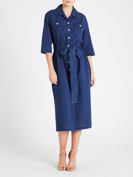 MiH Jeans Elise Dress - Blue Chambray