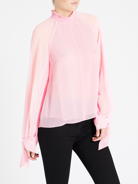 Camilla and Marc Noelle Shirred Top - Pink